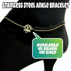 Jewelry - Stainless Steel Lotus Ankle Bracelet/Anklet